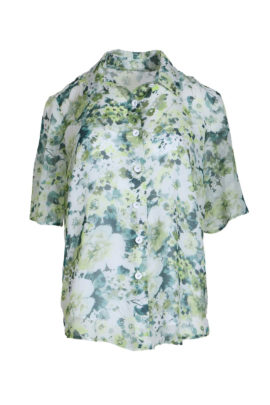 Blouse flower,floral print, may green-white