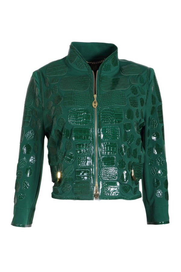 Spencerjacket emerald with gold corners