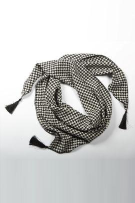 Scarf, Pepita pattern, pure silk, silk: Valentino Fabric