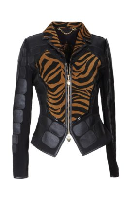 Jacket with animal-print