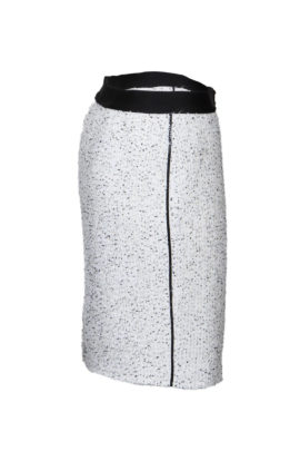 Skirt, ecru with black contrasts
