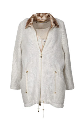 Parka, champagne, elastic boucle