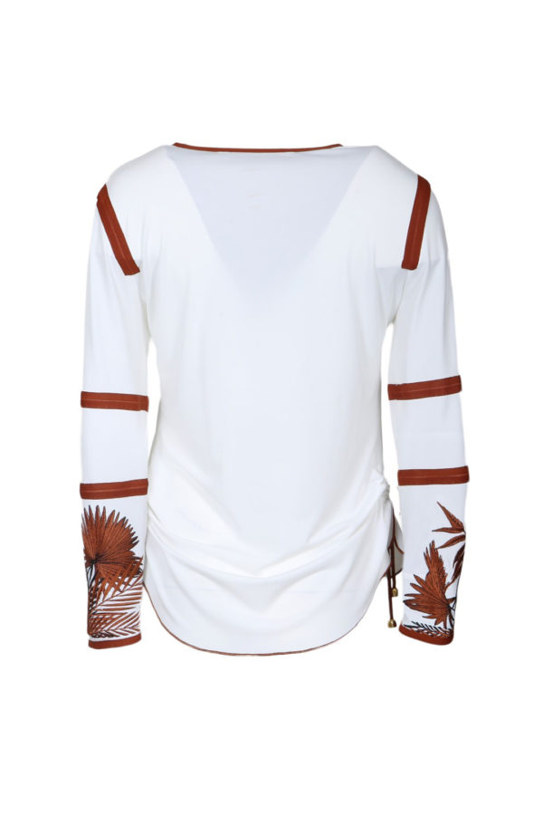 Shirt with Amazon embroidery