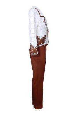 Logo trousers, Classic cognac