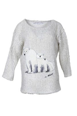 Oversize sweater with Alaska embroidery