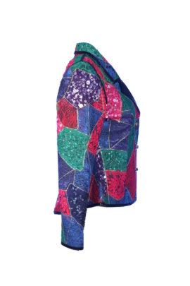 Blazer, multicolor, lace patchwork