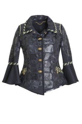 Croco jacket Grand Prix with classic-embroidery