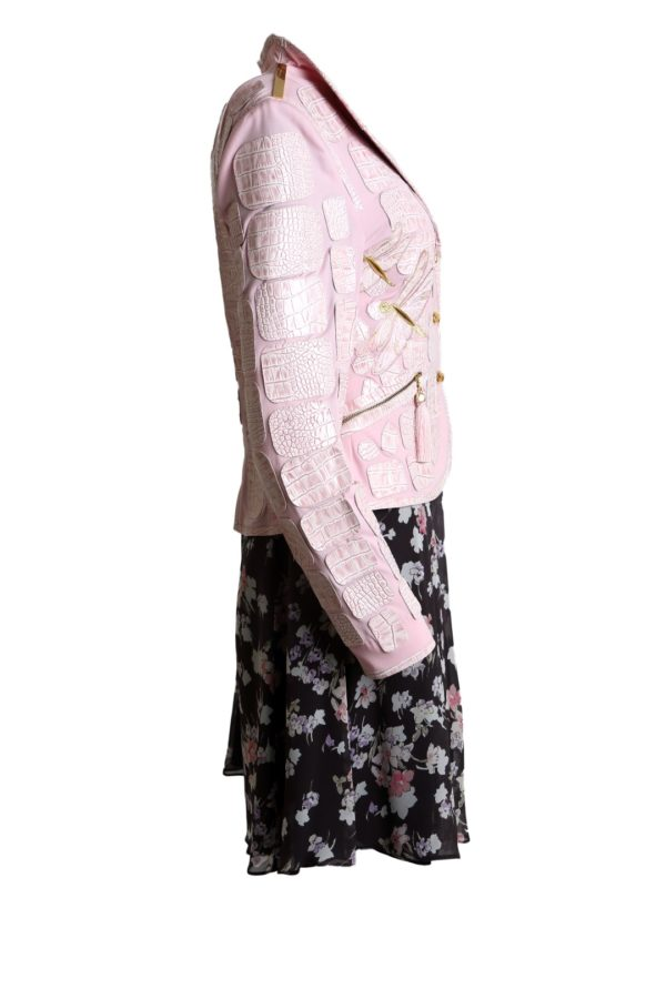 Croco jacket Dragonfly, gold-finished-body, ros�