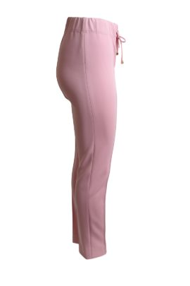 Trousers, Classic double jersey with gold logo LMD, rose quartz