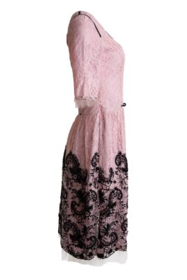 Cocktail dress, rosenquarz-black, lace: Riechers Marescot
