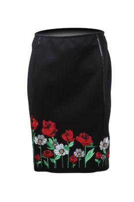 Skirt with summer meadow embroidery