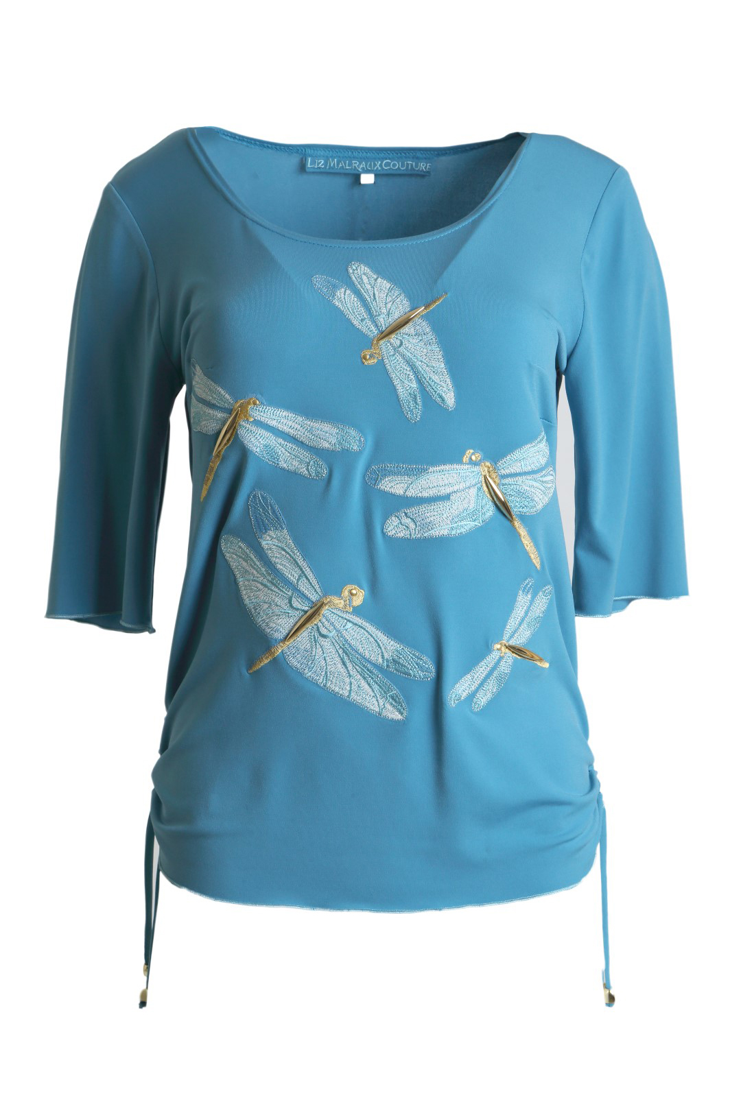 Shirt Dragon Fly with Dragon Fly-embroidery