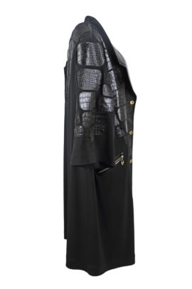 Oversize Longblazer with Croco patches, LMC-XL Edition, black