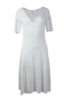 Dress Paisley-embroidery navy