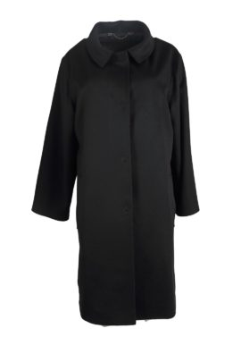 Coat, 100% cashmere, black