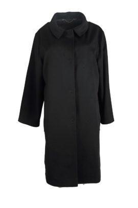 Coat, 100% cashmere, black