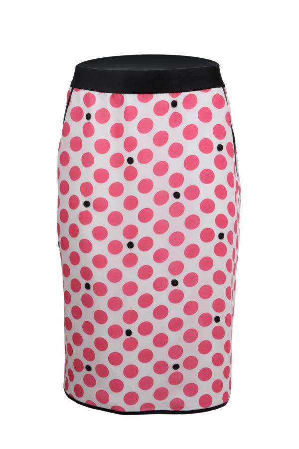 Skirt, pure silk, flamingo-white