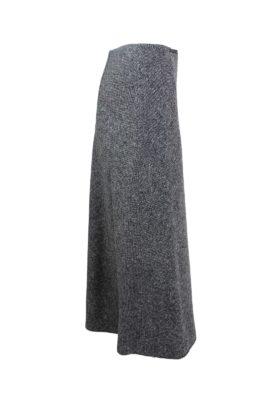Tweed skirt, midi length, lambswool & angora