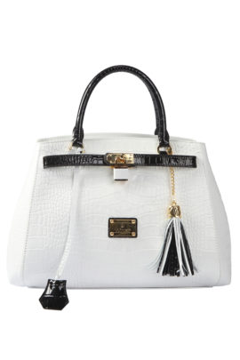 City Bag pure, white-black