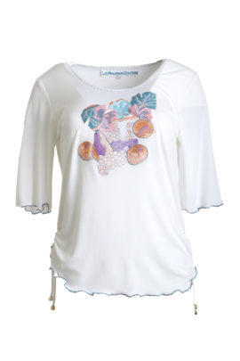 Art-Shirt, Still Lifes - embroidery half, 3/4 sleeves