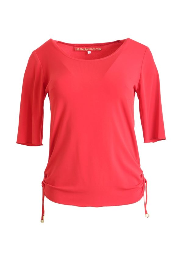 Shirt with drawstrings, uni red