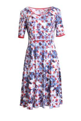 Dress Cote d' Azur, single jersey with varnish