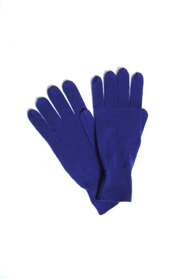 Gloves 100 % Cashmere royal blue