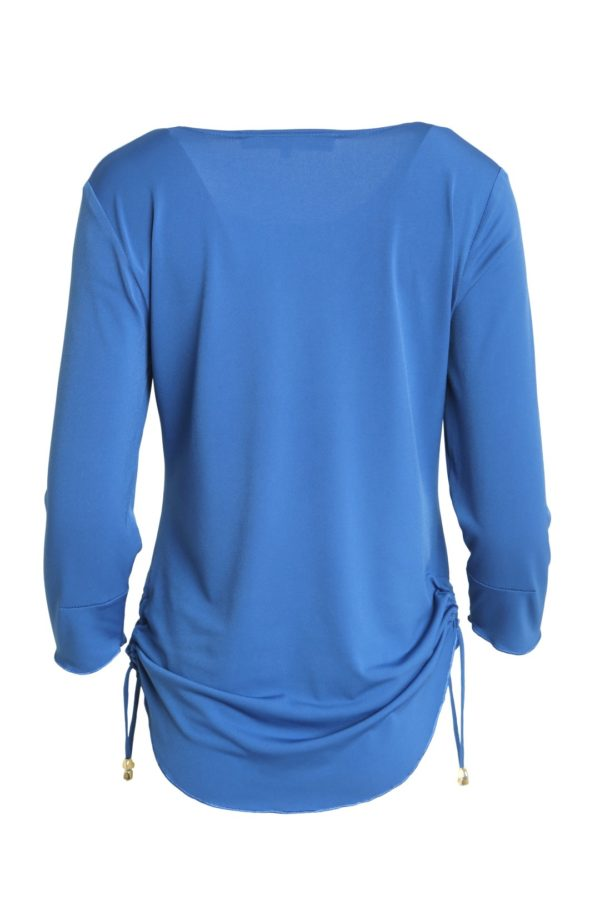 Shirt French Connection, 3/4 sleeve royal blue