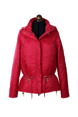 Parka flamingo with heraldic embroidery (short version)