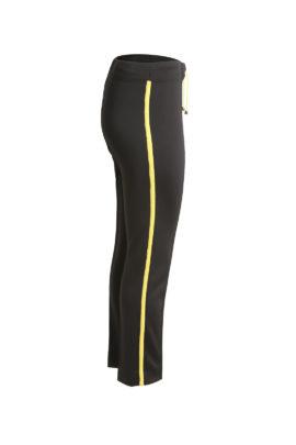 Classic logo pants, black-yellow