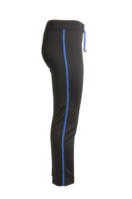Classic logo pants, black-royal blue