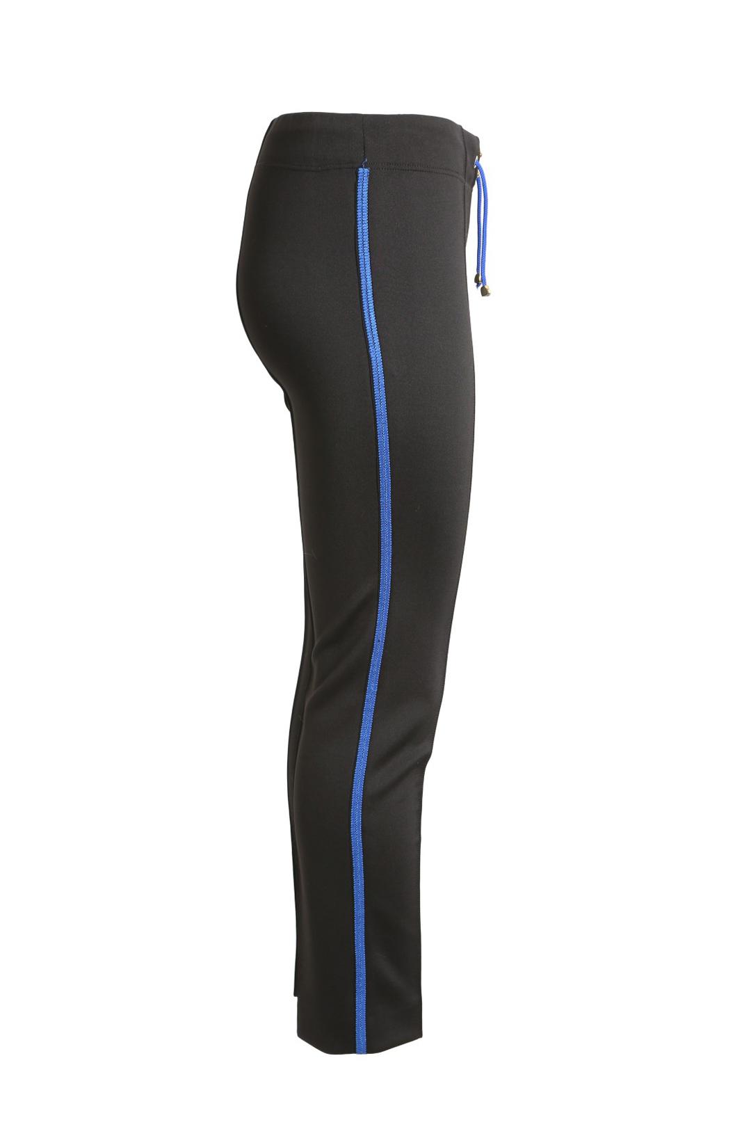 Classic logo pants, black-royal blue