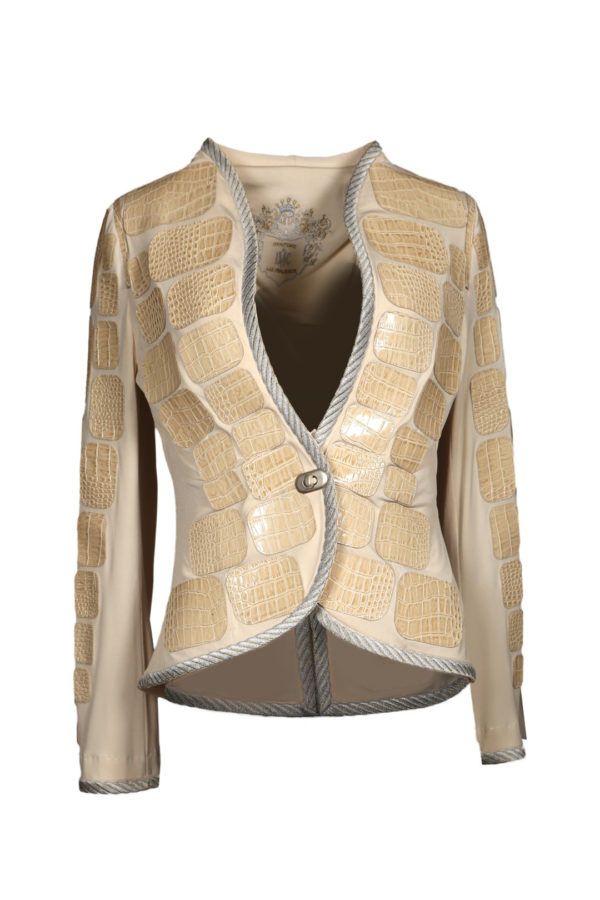 Croco jacket, champagne