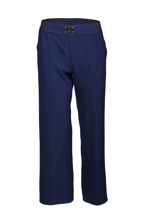 Palazzo trousers, light navy