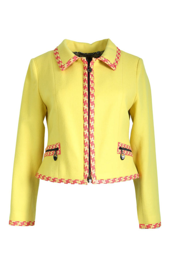 Jacket Merino-Angora with classic embroidery