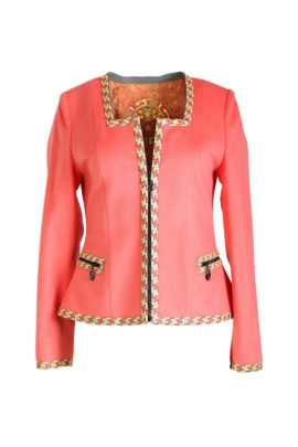 Jacket with classic-embroidery