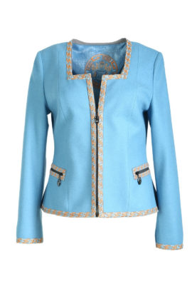 Jacket with classic embroidery