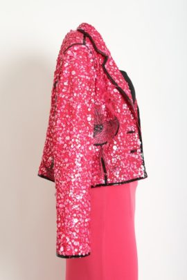 Evening jacket flamingo Bird of Paradise