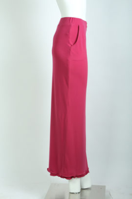 Evening skirt with pockets fuchsia