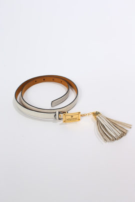 Belt Croco with leather pendant