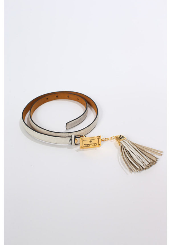 Belt Croco with leather pendant