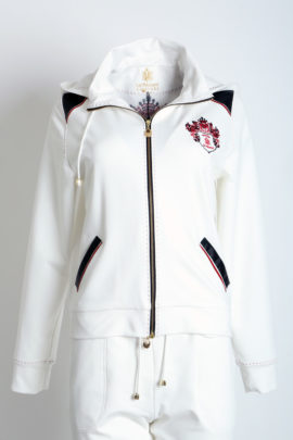 Blouson with heraldic embroidery