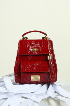 City Bag pure, dark red