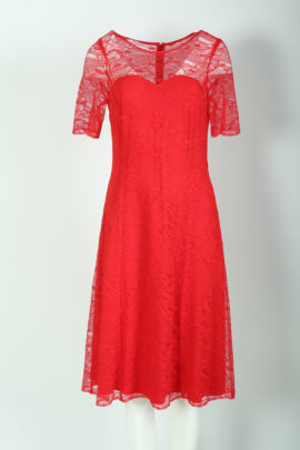 Dress elastic lace red