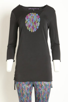 Longshirt with oval-embroidery