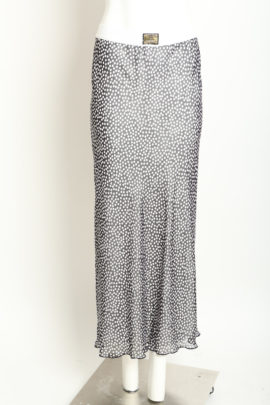 Maxi Skirt Points, transparent Georgette