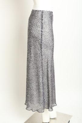 Maxi Skirt Points, transparent Georgette
