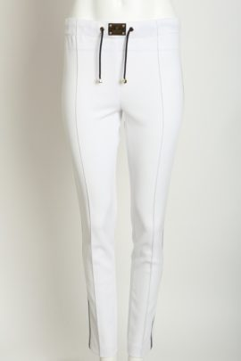 Classic logo pants, white-navy