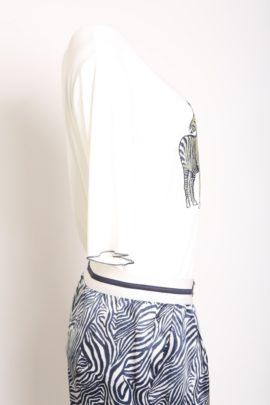 Shirt with zebra design short sleeve