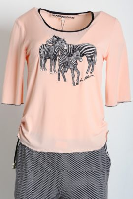 Shirt with zebra embroidery